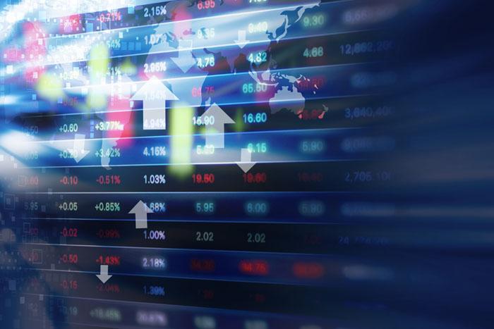 Grafici sui mercati di oggi e il mondo finanziario