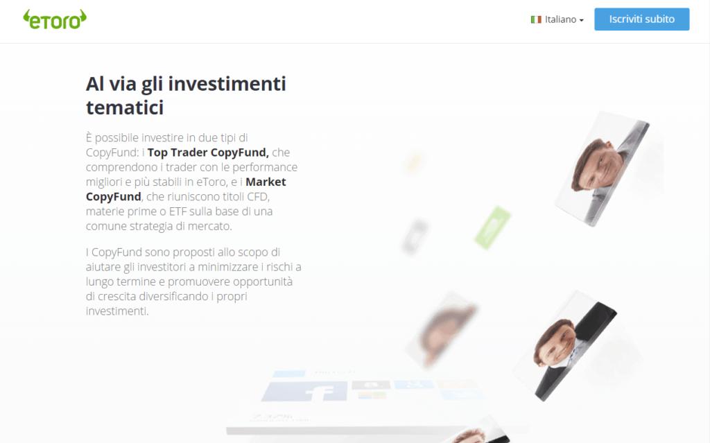 eToro CopyFunds Fondi d'Investimento