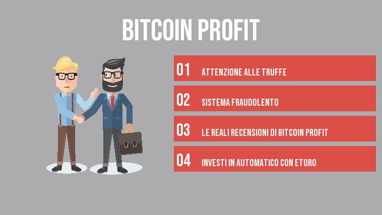 ▷ Bitcoin Profit Recensioni e Opinioni Piattaforma. Funziona o Truffa ?