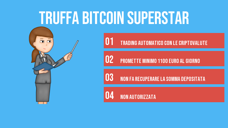 truffa bitcoin superstar infografica