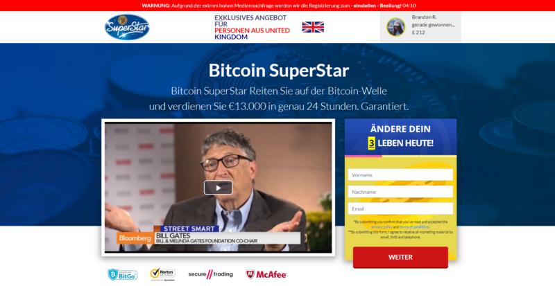 truffa bitcoin superstar bill gates