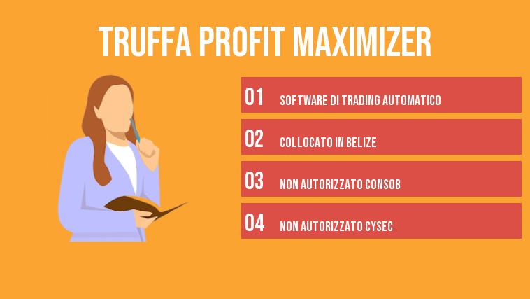 truffa profit maximizer infografica