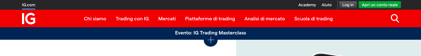 IG Markets home page